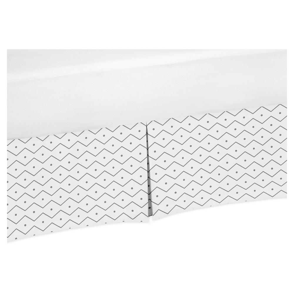 Image of Gray & White Bed Skirt - Sweet Jojo Designs