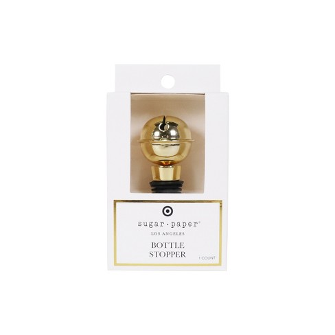 Gold Jingle Bell Wine Bottle Stopper - sugar paper™ - image 1 of 3