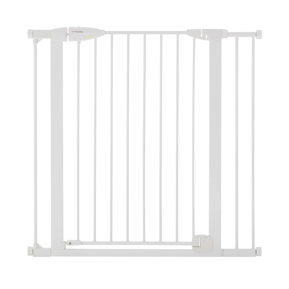 """Image of """"Toddleroo by North States Tall Bright Choice Auto-Close Baby Gate - White - 29.75""""""""-40.5"""""""" Wide"""""""