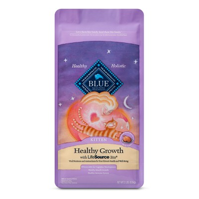 Blue Buffalo Healthy Growth Kitten Chicken & Brown - Rice Dry Cat Food - 2lb bag