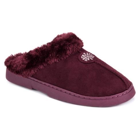 fe3a8ffc3d5 Women s MUK LUKS® Faux Fur Lined Clog Slippers - Burgundy M(7-8)   Target