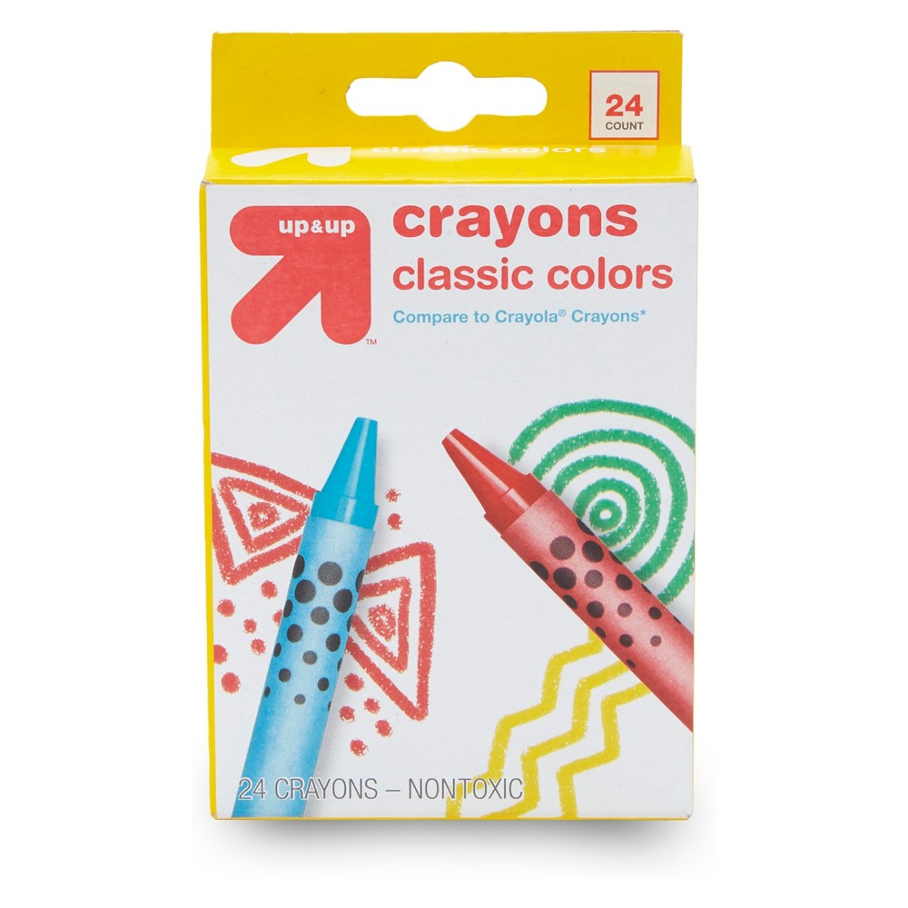 24ct Crayons Classic Colors - Up&Up was $1.19 now $0.35 (71.0% off)
