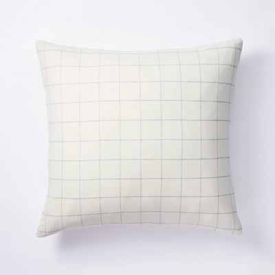 Oversized Square Windowpane Check Pillow Cream - Threshold™ designed with Studio McGee