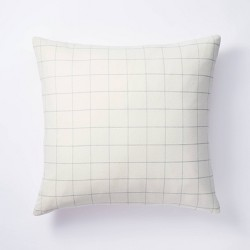 Windowpane Check Pillow Cream - Threshold™ designed with Studio McGee