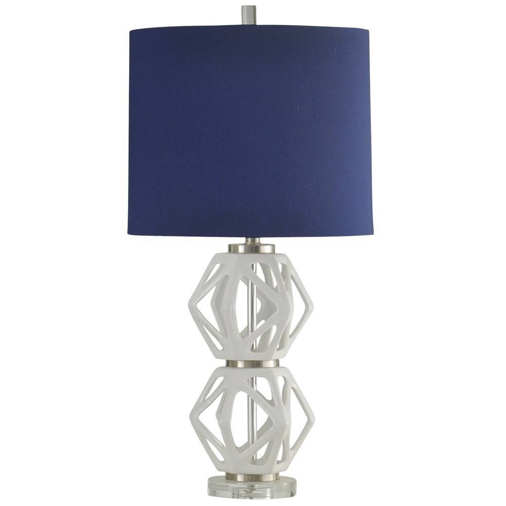 Ceramic Table Lamp White (Includes Light Bulb) - StyleCraft