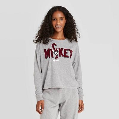 Women's Disney Mickey Letters Graphic Sweatshirt - Gray