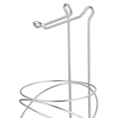 Home Basics Modern Swirl Freestanding Dispensing Toilet Paper Holder, Satin Nickel : Target