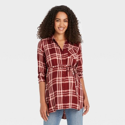 Long Sleeve Button-Down Maternity Shirt - Isabel Maternity by Ingrid & Isabel™