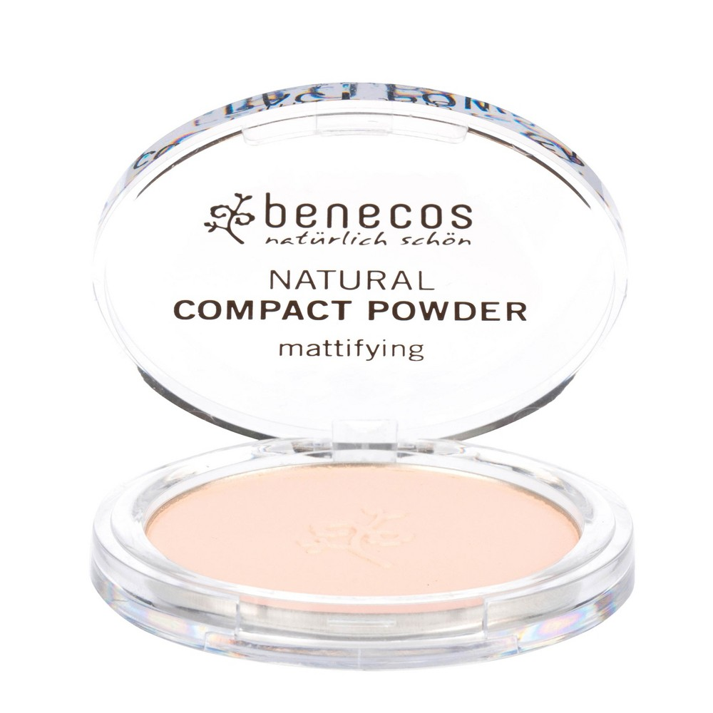 Image of benecos Natural Compact Powder Mattifying Peach - 0.31oz, Pink