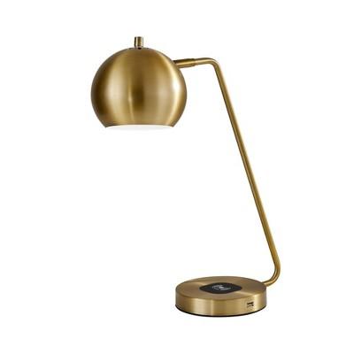 """18"""" x 20.5"""" Emerson Adessocharge Desk Lamp Brass - Adesso"""
