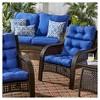 Solid Outdoor High Back Chair Cushion - Kensington Garden - image 3 of 4