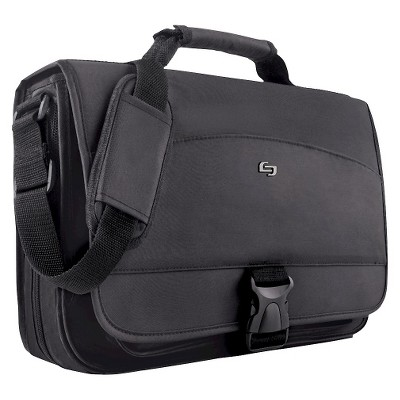 "Solo Expandable 15.6"" Laptop Messenger Bag - Black"