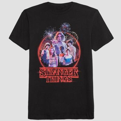 Men's Stranger Things Short Sleeve Graphic T Shirt Black Acid by Shirt Black Acid