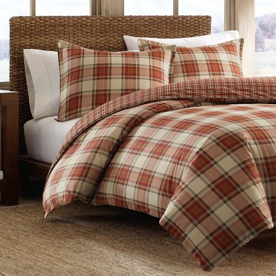 Red Edgewood Plaid Comforter Set (King)- Eddie Bauer