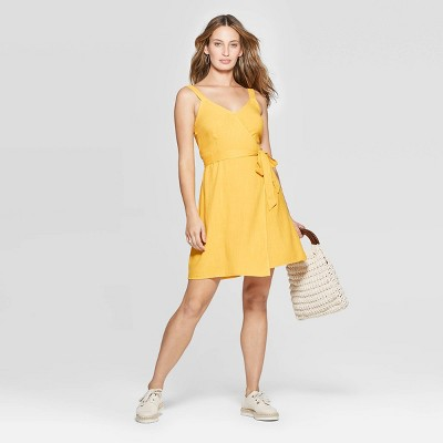 54dbef273e361 Women s Sleeveless V-Neck Wrap Dress - Universal Thread™