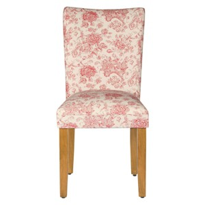 Parsons Chair Wood/Red Toile - HomePop