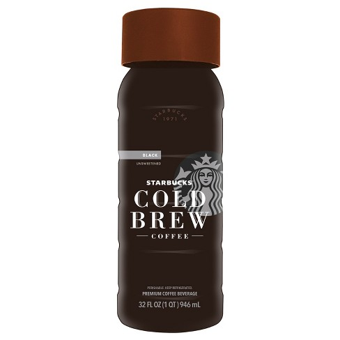 starbucks black unsweetened cold brew coffee 32 fl oz target