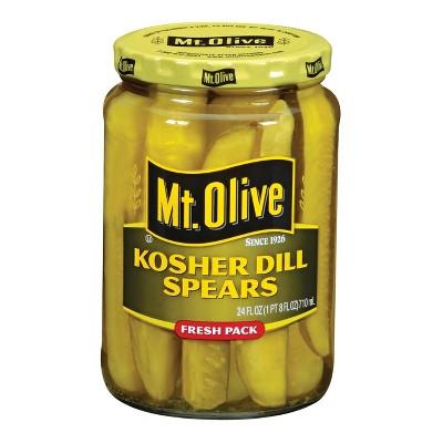 Mt. Olive Kosher Dill Pickle Spears - 24oz