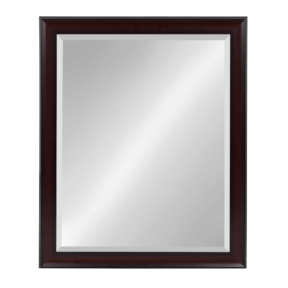"""Image of """"Kate & Laurel 26""""""""x32"""""""" Scoop Framed Beveled Decorative Wall Mirror Cherry Red"""""""