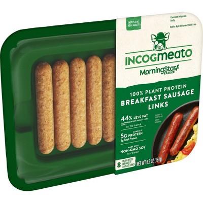 Morningstar Farms Incogmeato Frozen Breakfast Sausage Link - 6.5oz