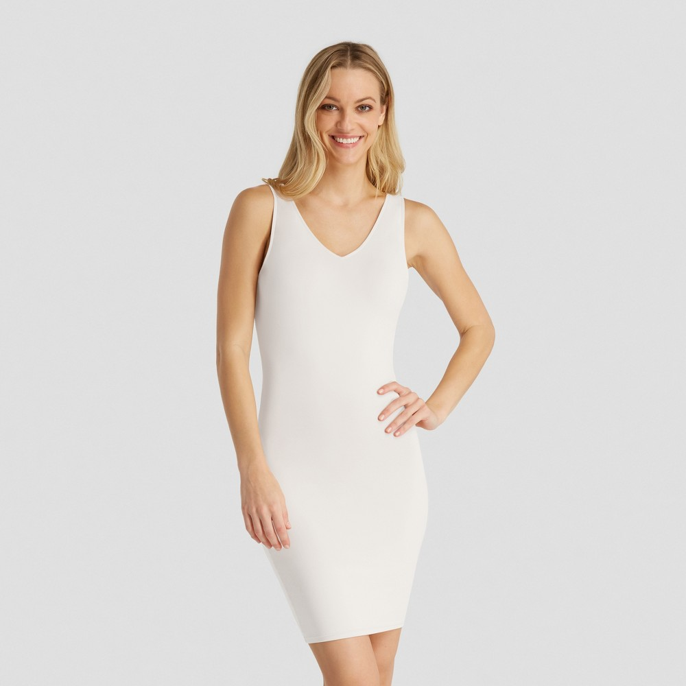 Image of Assets by Spanx Women's Shaping Tank Slip - White L, Size: Large