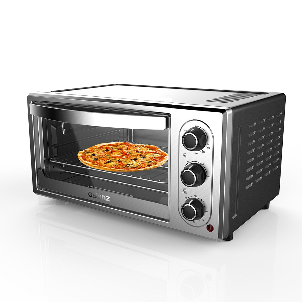 Image of Galanz 6 Slice Toaster Oven - Stainless Steel KWS1315J-F3YA, Silver