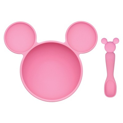 Bumkins Disney Minnie Mouse First Feeding Set - Pink