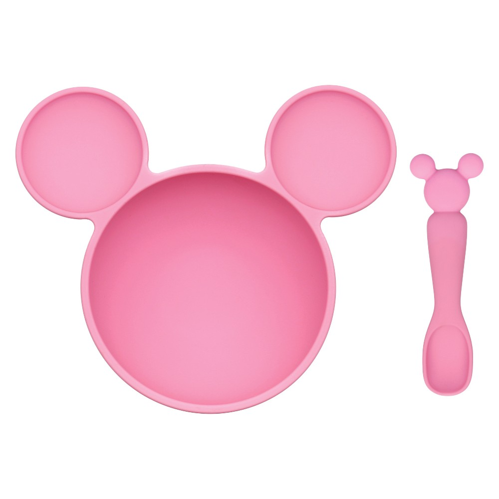 Image of Bumkins Disney Minnie Mouse First Feeding Set - Pink