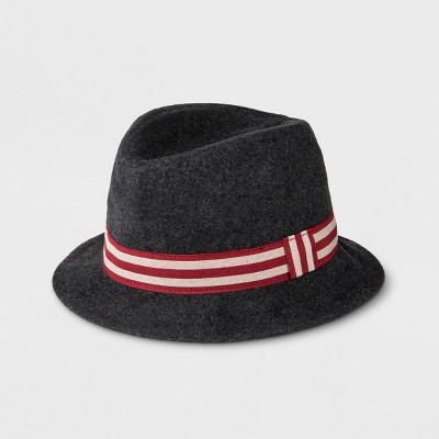 Baby Boys' Faux Wool Fedora - Cat & Jack™ Gray 0-6 M