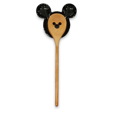 Mickey Mouse & Friends 2pc Ceramic Spoon and Spoon Rest Set - Disney store