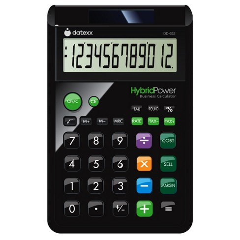 Datexx 12 digit Designer Large Desktop Calculator with Cost/Sell/Margin Feature - Black (DD-632B) - image 1 of 1