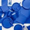 Cobalt Blue Round Plastic Tablecloth - image 2 of 3