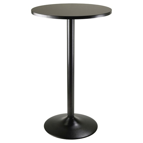 Obsidian Pub Table Bar Height Wood Black Winsome