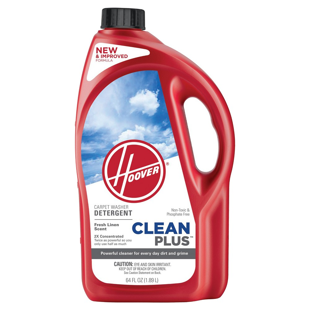 Image of Hoover 64oz Clean Plus 2X Carpet Washer Solution, Clear