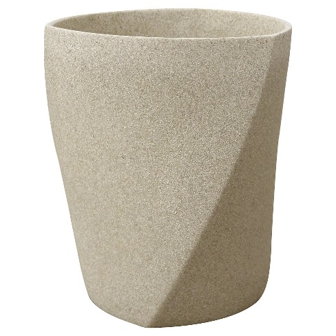 Resin Geo Stone Wastebasket Gray - Allure® - image 1 of 1