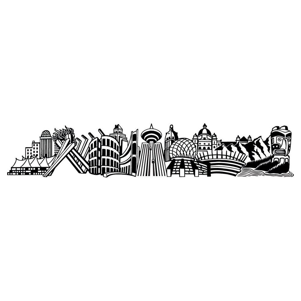 Into Vancouver Wall Decal - Black