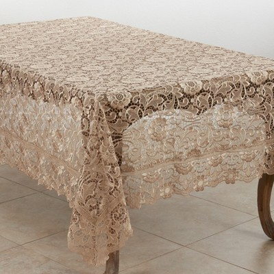 Saro Lifestyle Floral Lace Dining Tablecloth