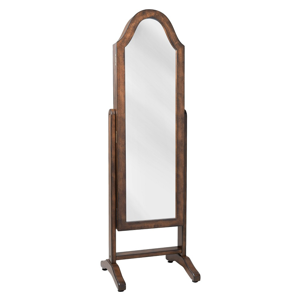 Image of Bell Shape Jewelry Mirror Walnut - Hives & Honey, Brown