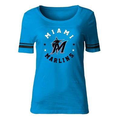 MLB Miami Marlins Women's Poly Rayon Fashion T-Shirt