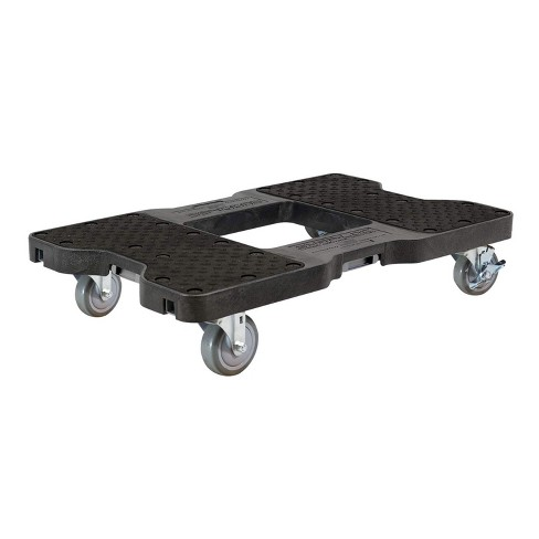 Snap Loc 1,500 lb Capacity Industrial Strength E Track Dolly Black, Heavy Duty 4 in Polyurethane Swivel Non Marking Caster Wheels - image 1 of 4