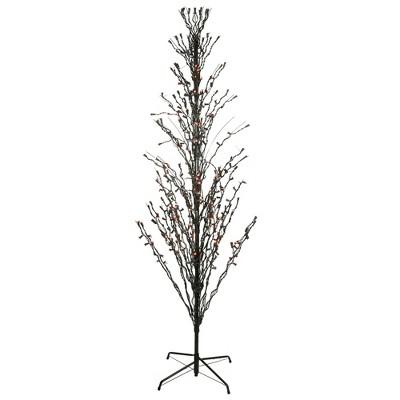 LB International 9' Prelit LED Cascade Halloween Twig Tree Outdoor Decoration - Orange