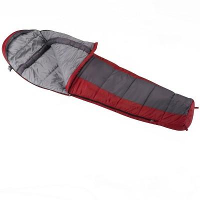 Wenzel Windy Pass 0 Degrees Fahrenheit Mummy Sleeping Bag - Dark Gray