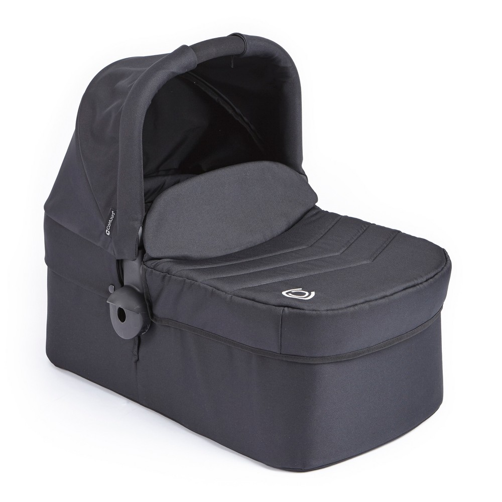 Contours Bassinet Stroller Accessory - Black Whether preparing for a leisurely stroll or an afternoon nap, transport your infant easily and comfortably with the Contours Bassinet Accessory. The bassinet clicks into your Contours double stroller or can be used in your home as a traditional bassinet approved for overnight sleeping. The bassinet features a machine washable quilted mattress pad, large sun canopy, and a boot cover to protect your baby from the elements. Color: Black. Gender: Unisex.