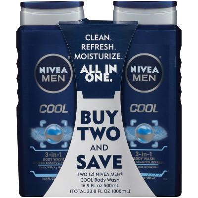 Nivea Men Cool 3-in-1 Body Wash