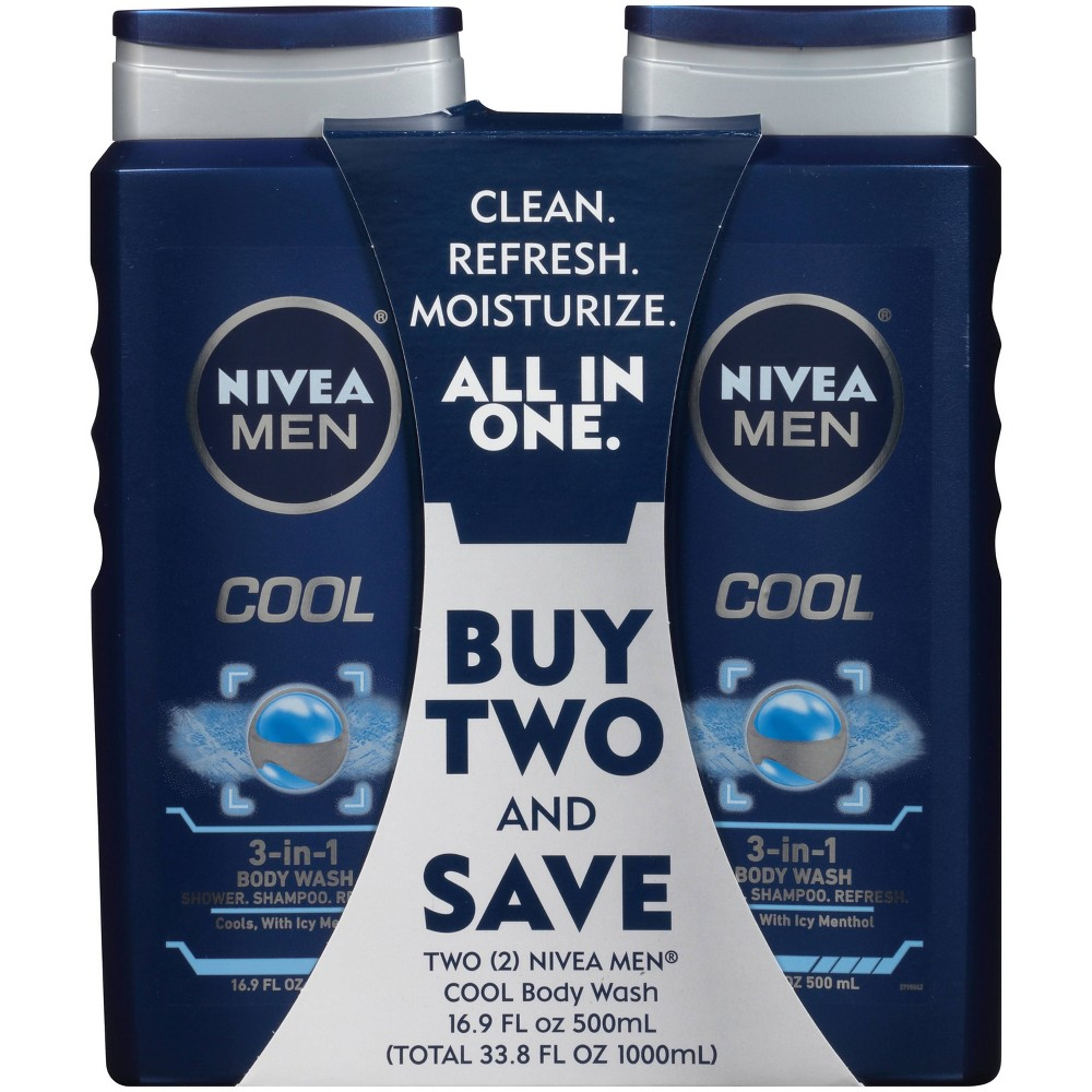 NIVEA Men Cool 3-in-1 Body Wash 3-Pack Now $7.39 (Was $14.97)