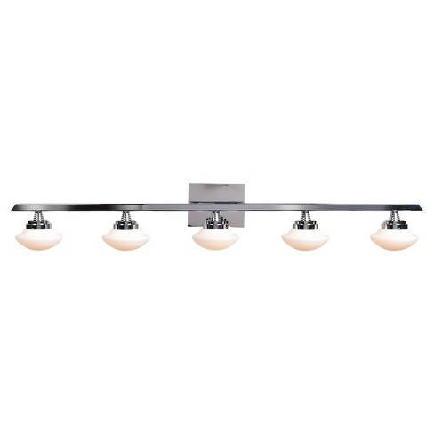 Atomiser LED 5-Light Vanity Light - Chrome - Opal Glass Shade - image 1 of 3