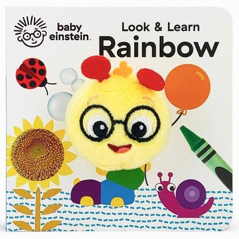 Look & Learn Rainbow - (Finger Puppet Board Book Baby Einstein) by  Jaye Garnett (Board_book) - image 1 of 1