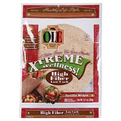 Ole Xtreme Wellness High Fiber Low Carb Tortilla Wraps 8 ct (12.7 oz)