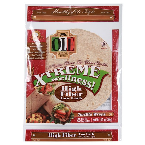 Ole Xtreme Wellness High Fiber Low Carb Tortilla Wraps 8 ct (12.7 oz) - image 1 of 1