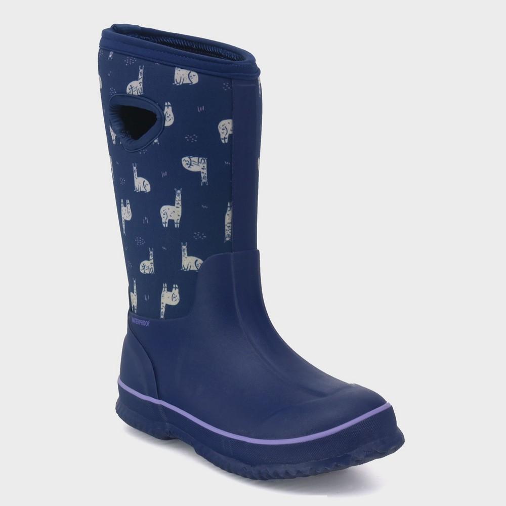 Girls' Polly Neoprene Winter Boots - Cat & Jack Navy (Blue) 13